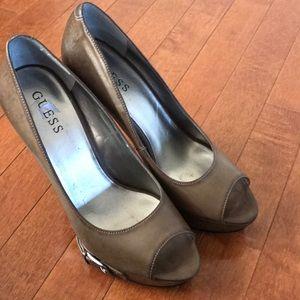 Guess Peep Toe Heels 8